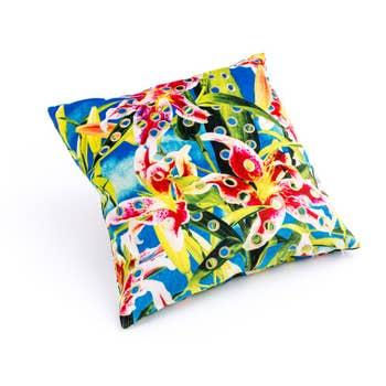 Flower Holes Cushion Cover