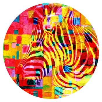 Abstract Zebra Wall Art