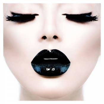 Girl Black Lips AluArt