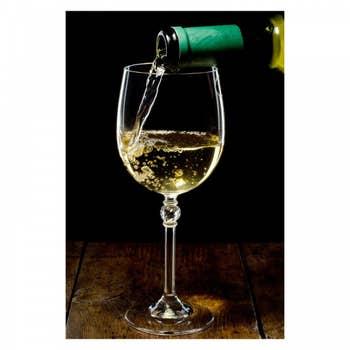 White Wine Pouring AluArt