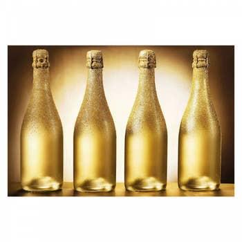 Golden Champagne Bottle AluArt