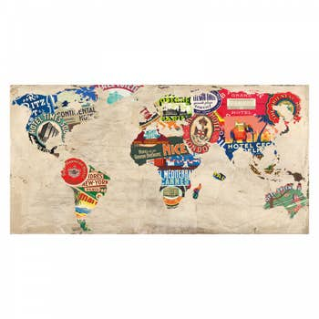 Bon Voyage Map Wall Art