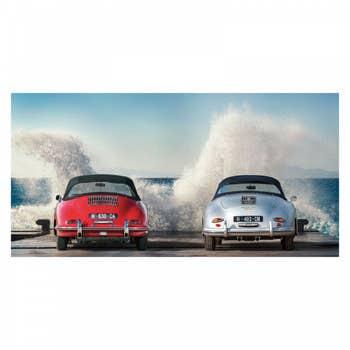 Ocean Waves Vintage Car AluArt