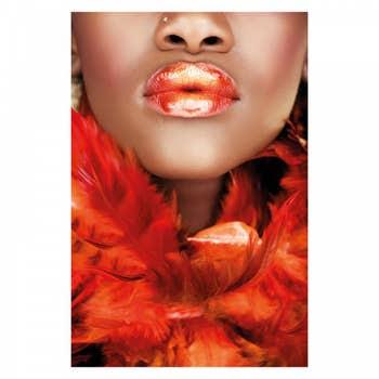 Bold Orange Lips Wall Art