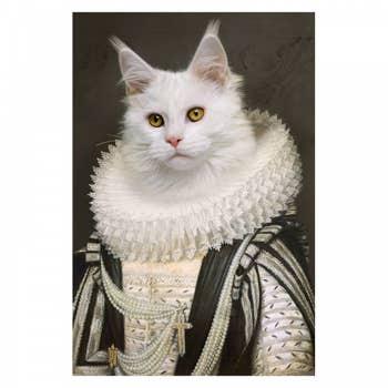Royal White Cat Wall Art