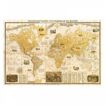 1859 World Map Wall Art