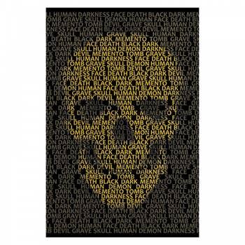 Human Skull Typography AluArt