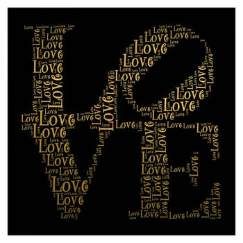 Love Word Collage Wall Art