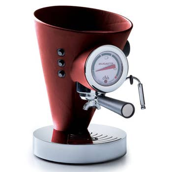 Red Leather Coffee Machine