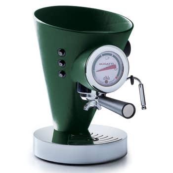Green Leather Coffee Machine