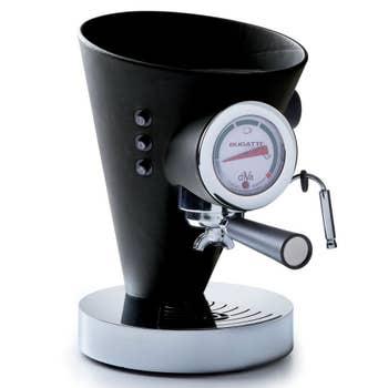 Black Leather Coffee Machine