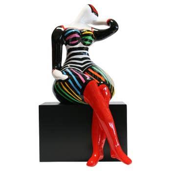 Seductive Happy Lady Sculpture