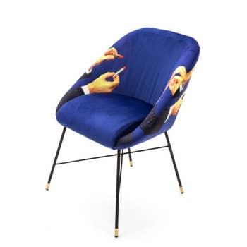 Lipsticks Padded Chair Blue