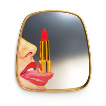 Tongue Gold Frame Mirror