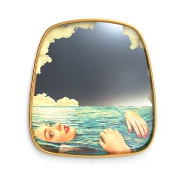 Sea Girl Gold Frame Mirror