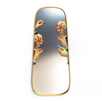 Lipsticks Gold Frame Mirror