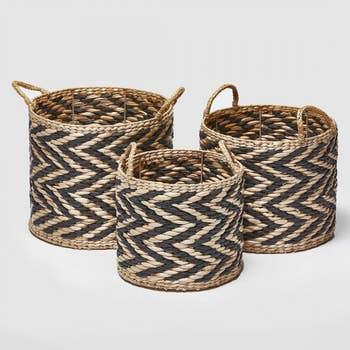 Straw Basket Set of 3