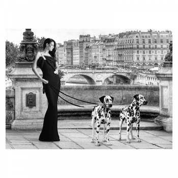 Walking in Paris Wall Textile