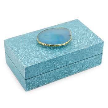 Agate Blue Decorative Box