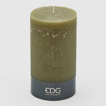 Rustic Olive Pillar Candle