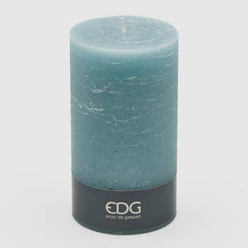 Rustic Turquoise Pillar Candle