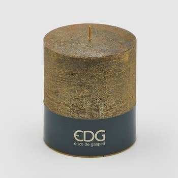 Rustic Gold Pillar Candle