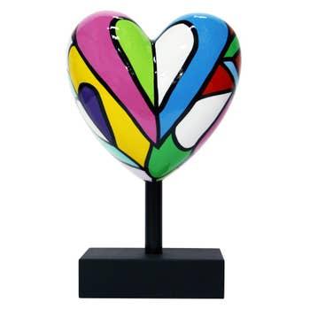 Lovely Missive Heart Sculpture