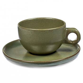 Cappuccino Cup & Plate Camo - Set of 4