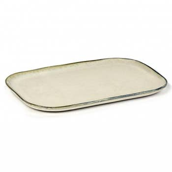 Plate Rectangular Merci White