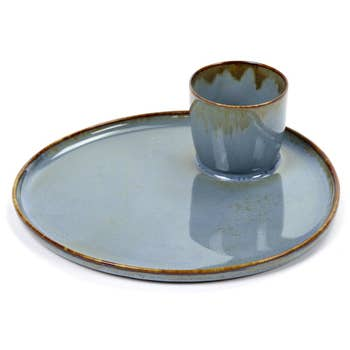 Rêves Tapas Plate Smokey Blue
