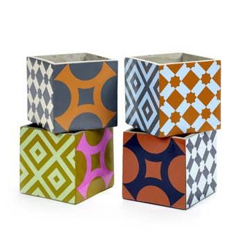 Marie Bohemian Pots Set of 4