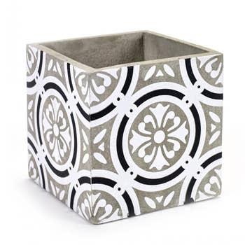 Marie Tile Monochrome Pot