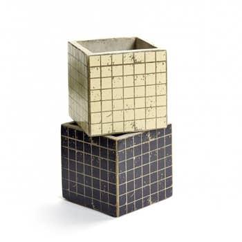 Mosaic Pots Black & White Set2