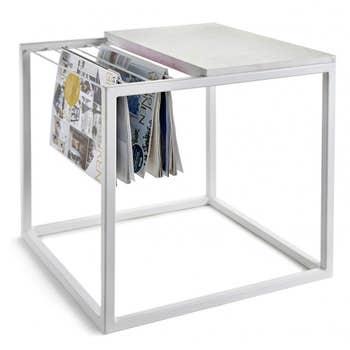 White Magazine & Coffee Table