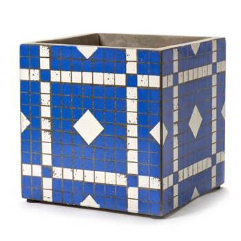 Marie Blue Mosaic Pot