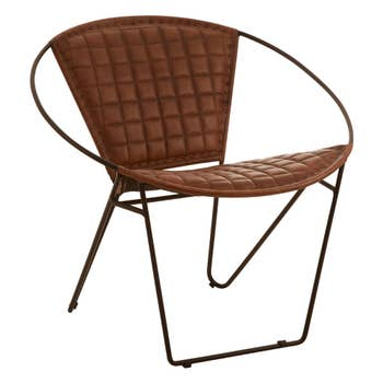 Bitan Leather Rounded Chair
