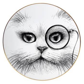 Cat Monocle Plate