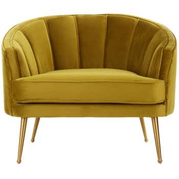 Carnation Velvet Chair