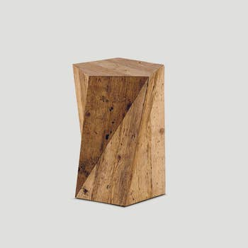 Natural Geometric Side Table
