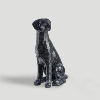 Mirrored Dog Sculpture