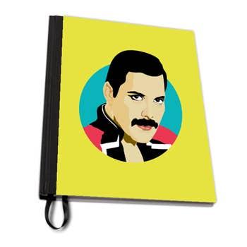 Freddie Mercury A4 Notebook