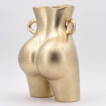 Bootyful Gold Bum Vase