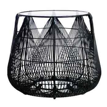 Hagia Black End Table