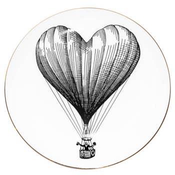Heart Balloon Plate