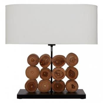 Siena Log Table Lamp