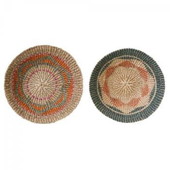 Jute Wall Basket Set Of 2
