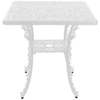 Industry White Square Table