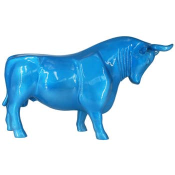 Bull Sculpture Light Blue
