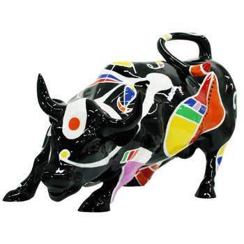 Bull Sculpture Dark Miro