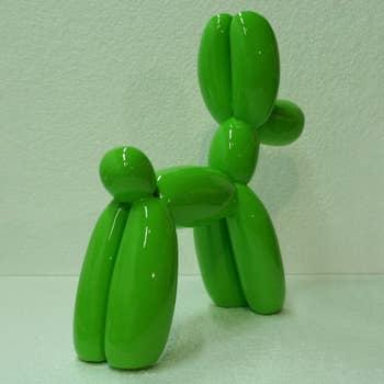 Balloon Dog Sculpture Green